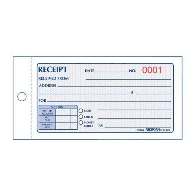 Rediform Money Receipt 2/Part Collection Forms - Quickship.com