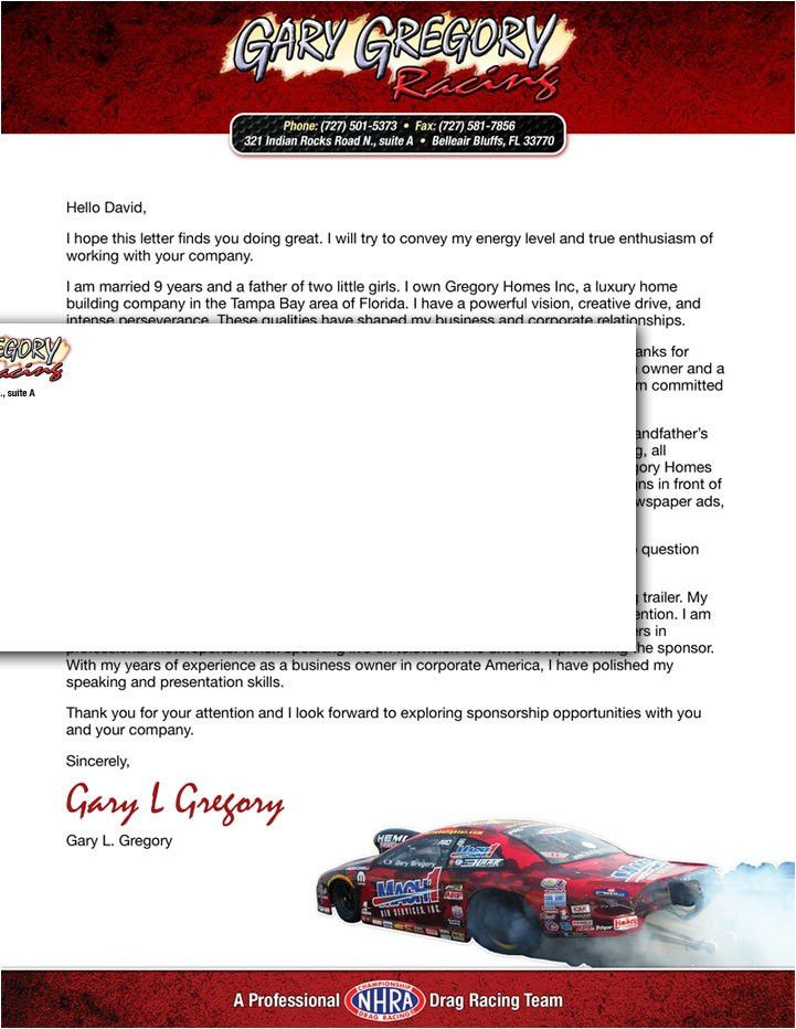 race car sponsorship proposal template