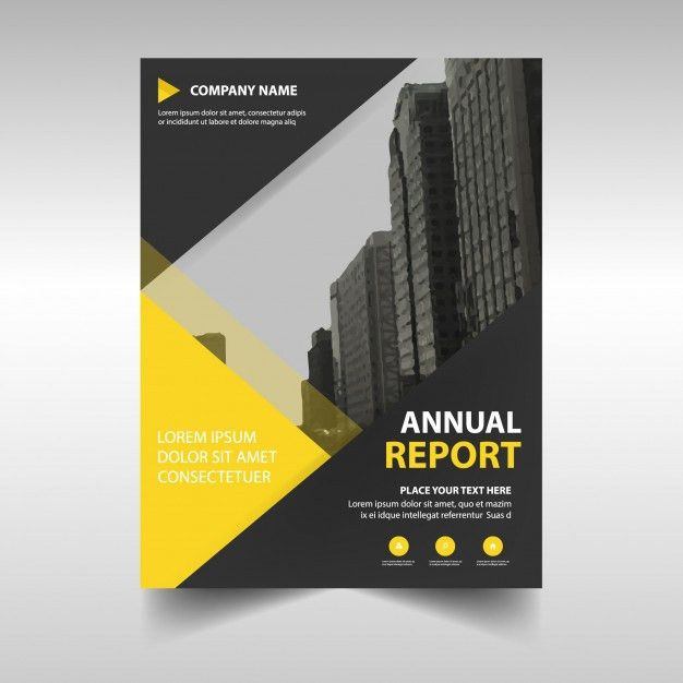 Yellow abstract corporate annual report template Vector | Free ...