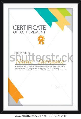 Modern Vector Certificate Template Green Abstract Stock Vector ...