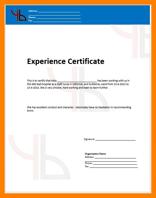 8+ experience letter format | resumes great