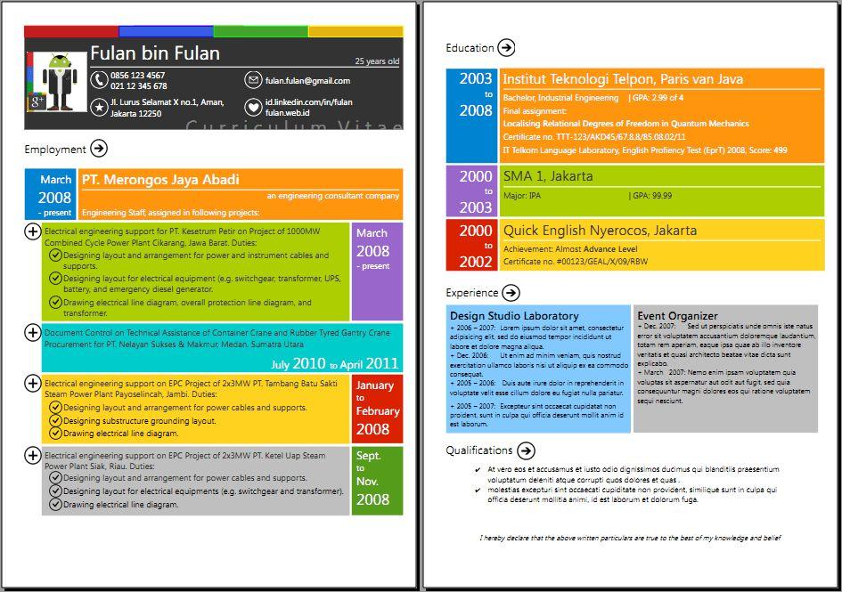 CV Google+ n Metro UI style by wheeqo on DeviantArt
