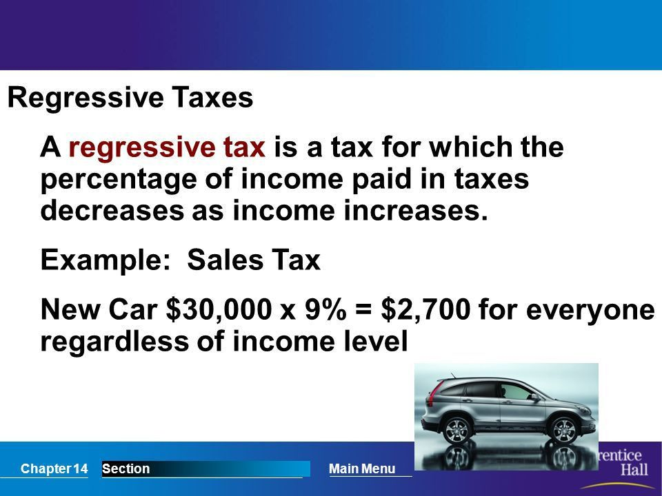Chapter 14SectionMain Menu What Are Taxes? How are taxes used to ...