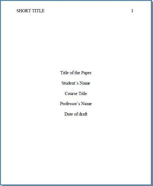 apa cover page examples