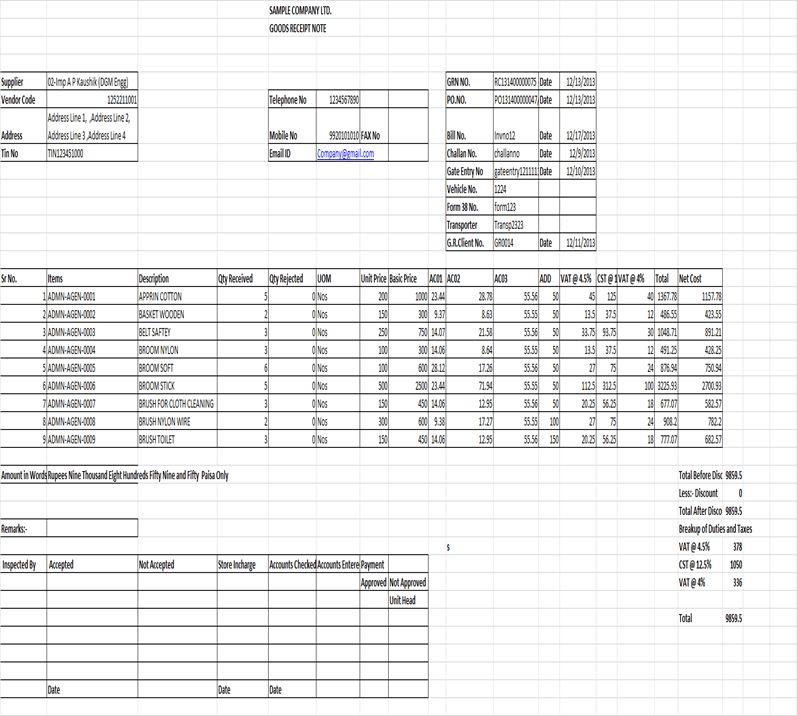Goods Receipt Register Report – Sage 300 ERP – Tips, Tricks and ...