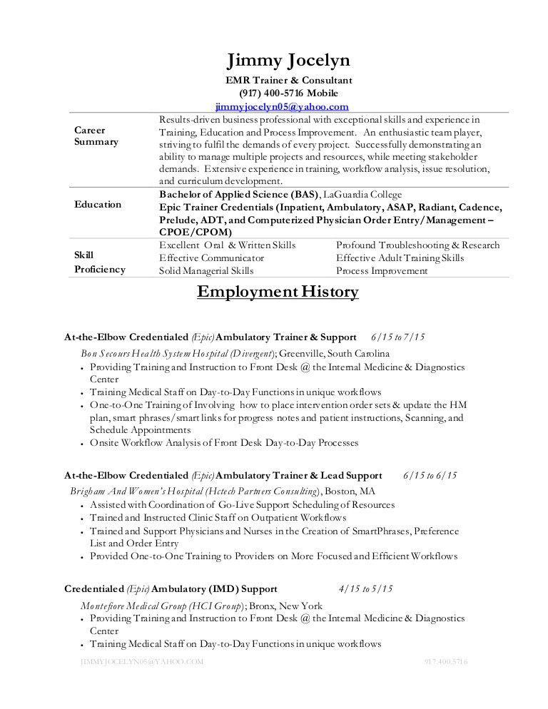 Jimmy Jocelyn Resume