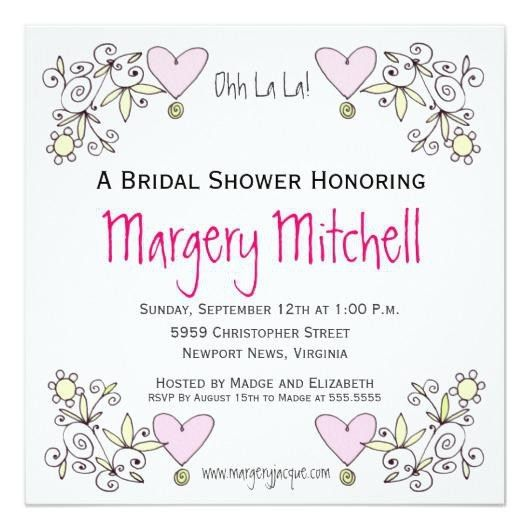 Zazzle Bridal Shower Invitations | christmanista.com