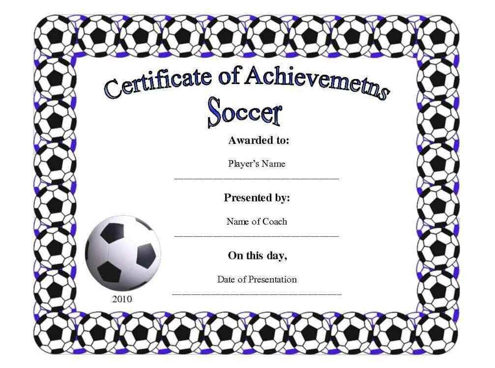 """Football Certificate Template. """"You Crushed It"""" Certificate - Part ..."""