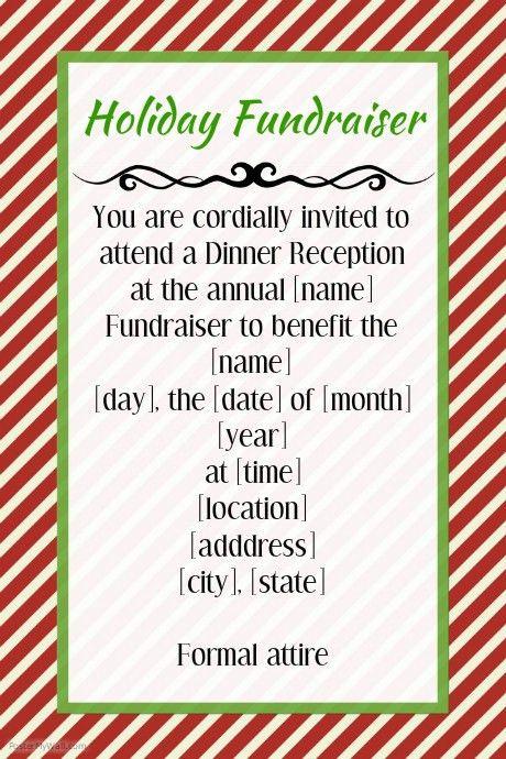 fundraiser invitation templates