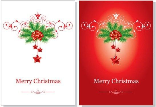 Christmas Card Vector Template Free vector in Encapsulated ...