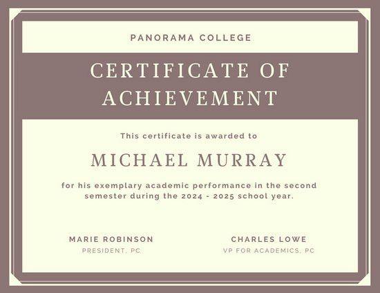Achievement Certificate Templates - Canva