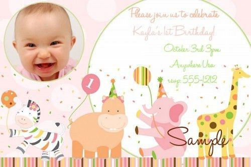 First Birthday Invitation Card Template : stevejobssecretsoflife.org