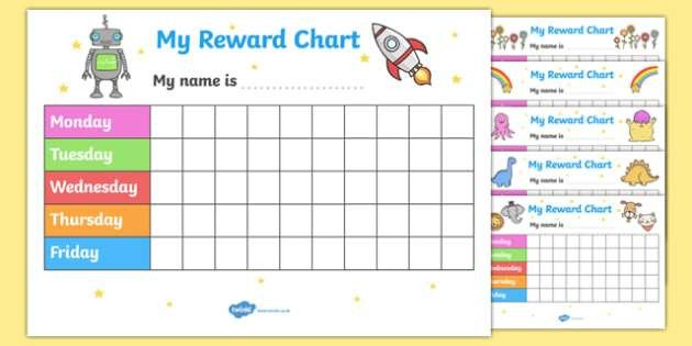 My Reward Chart - Reward Chart Pack, free reward chart, my