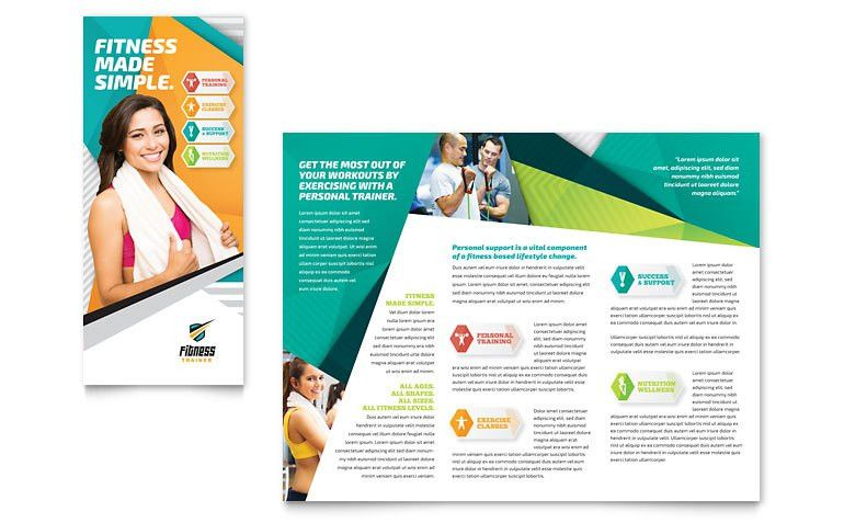 Fitness Trainer Brochure Template - Word & Publisher