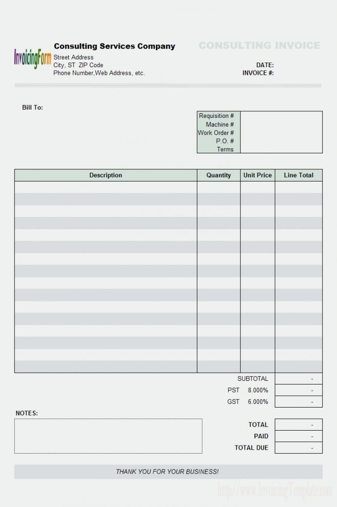ms word 2007 invoice template