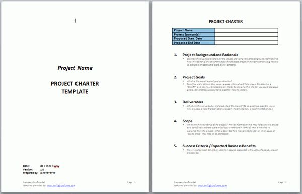 Project Charter Templates | Swiftlight Software