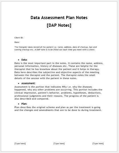 patient progress notes template word
