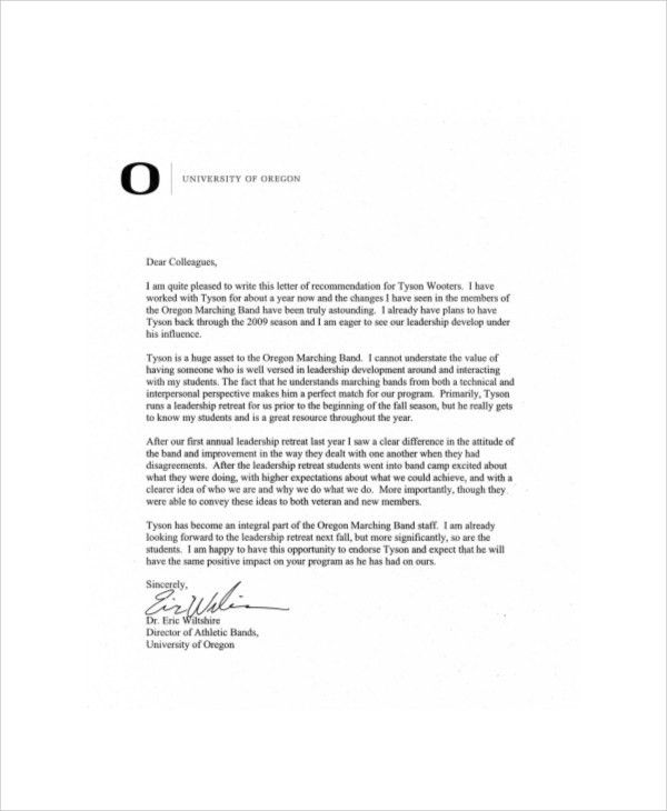 Sample Recommendation Letter for Colleague - 6+ Examples in Word, PDF