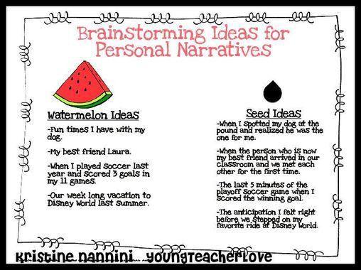 Personal Narratives - Cedar Fork 3rd Grade