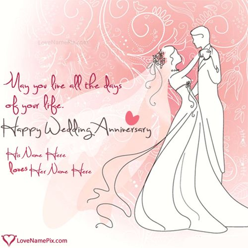Name on Printable Wedding Anniversary Cards Picture