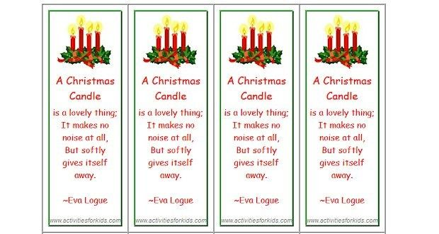 Christmas Bookmarks - Activities For Kids