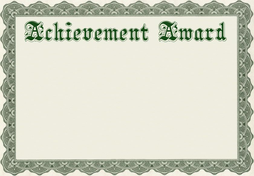 achievement award template - /education/awards ...