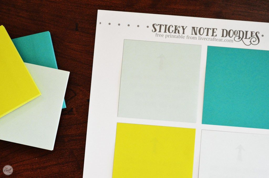 Free Template For DIY Printable Sticky Notes | Live Craft Eat