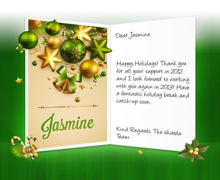 Professional Christmas eCards for business