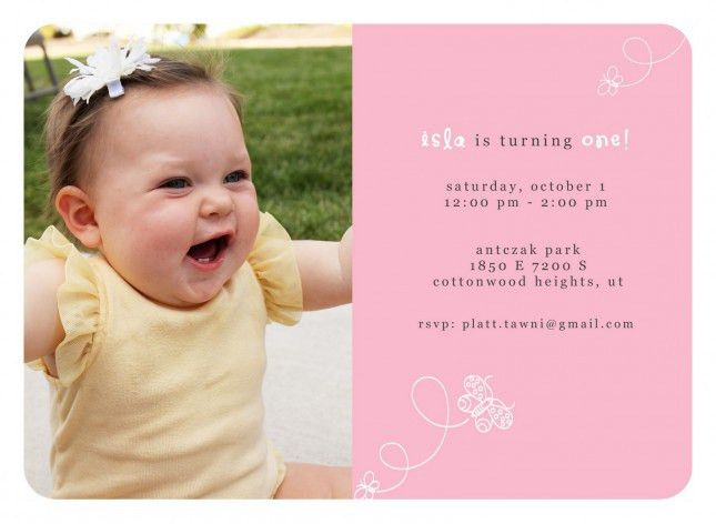 Free First Birthday Invitation Templates - iidaemilia.Com