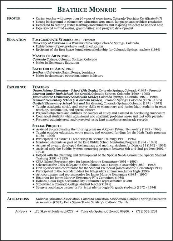 Download Resume For Teachers | haadyaooverbayresort.com
