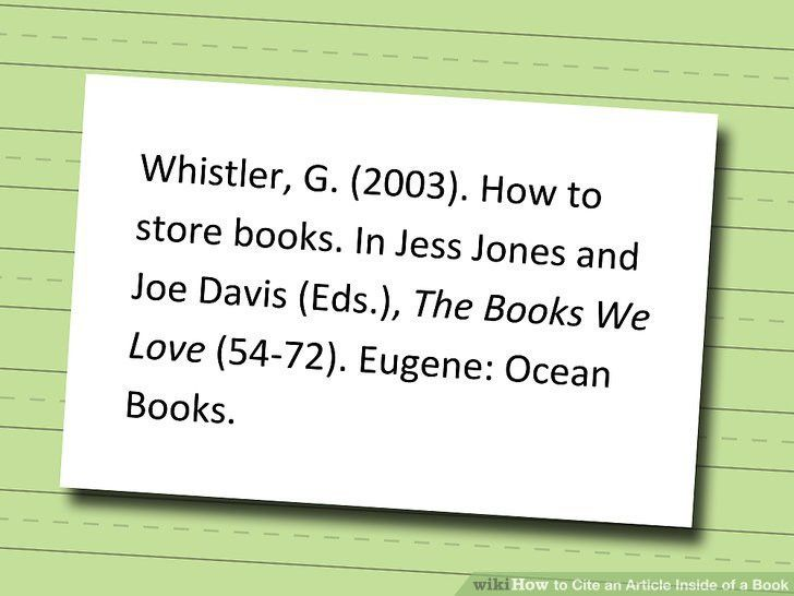 3 Ways to Cite an Article Inside of a Book - wikiHow