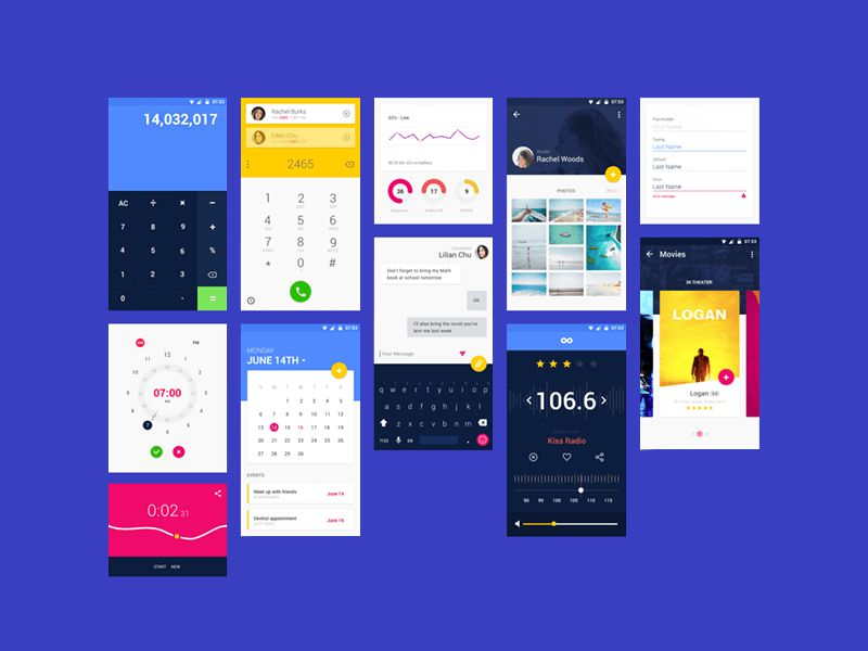 Android Material Design App Templates free resources for Sketch ...
