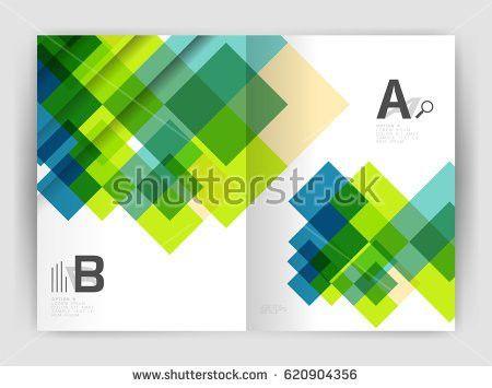 Brochure Leaflet Flyer Cover Template Modern Stock Vector ...