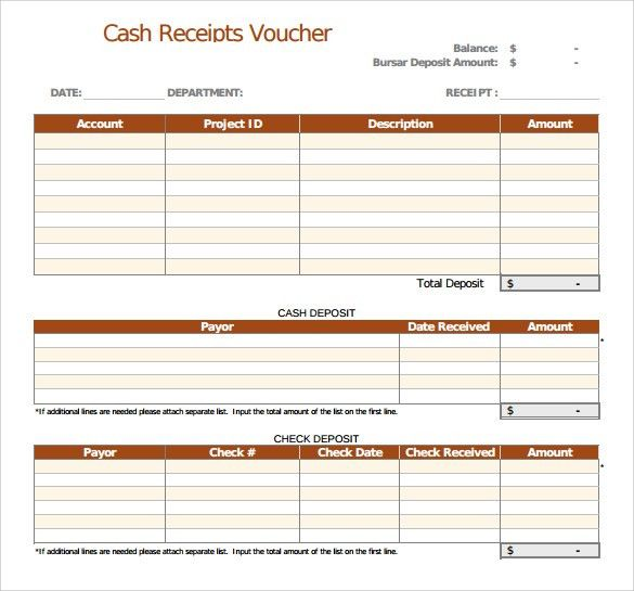 Sample Receipt Voucher Template - 8+ Download Free Documents in ...