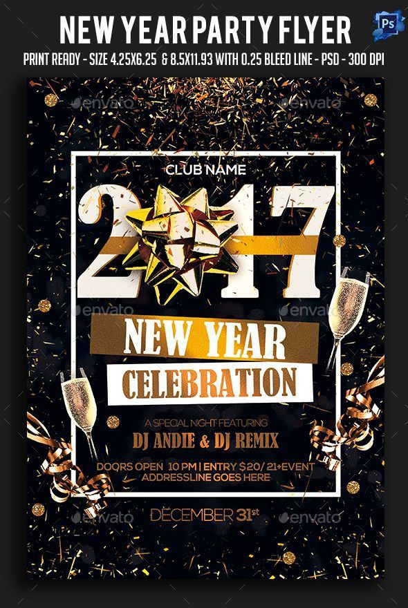 575 best New Year Party Flyer Templates images on Pinterest ...