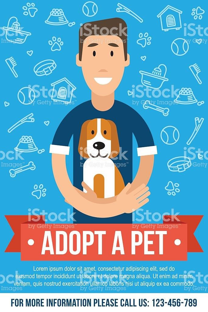 Pet Adoption Poster stock vector art 615909676 | iStock