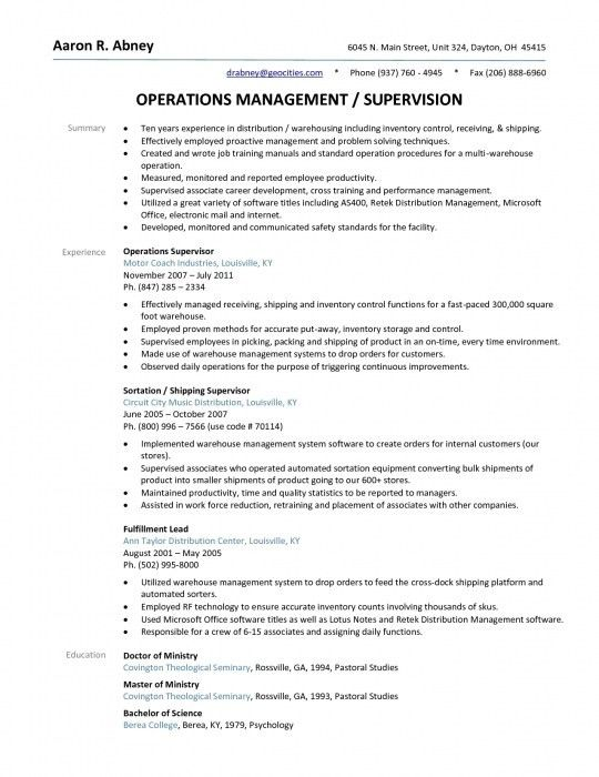 Brilliant Shipping And Receiving Manager Resume | Resume Format Web