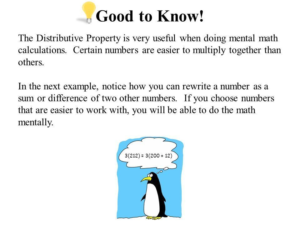 The Distributive Property Core Focus on Introductory Algebra ...