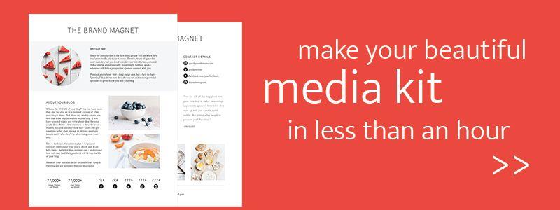 How to Make a Media Kit that ROCKS | Blog Sponsorships