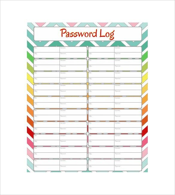 9+ Password Spreadsheet Templates- Free Word, Excel, PDF Documents ...