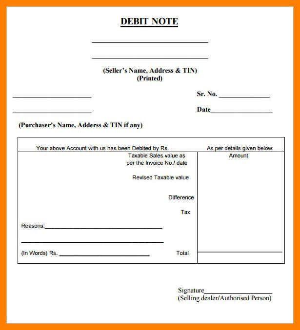 8+ debit note sample | childcare resume