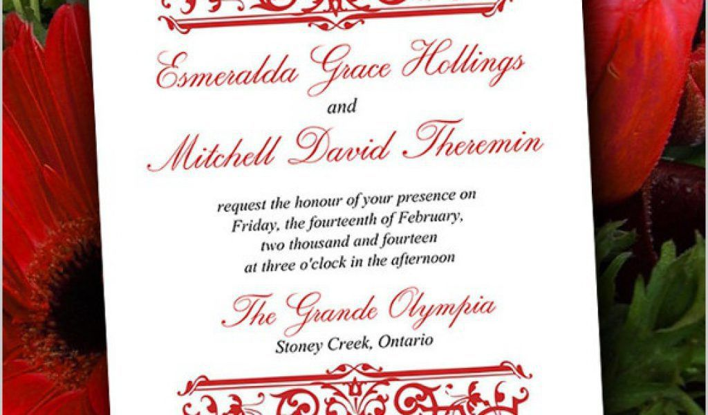 Wedding Invitations Free Samples together with 20 formal ...