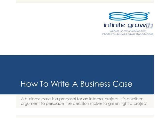 How to Write a Business Case |authorSTREAM