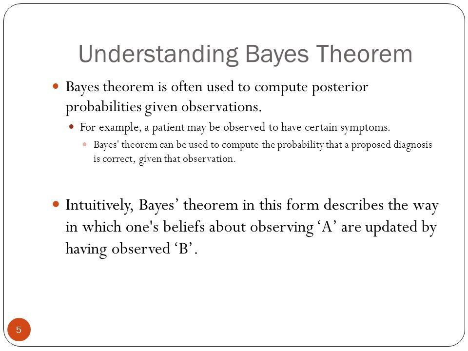 Bayes Theorem and Review of Concepts Learnt 1 Krishna.V.Palem ...