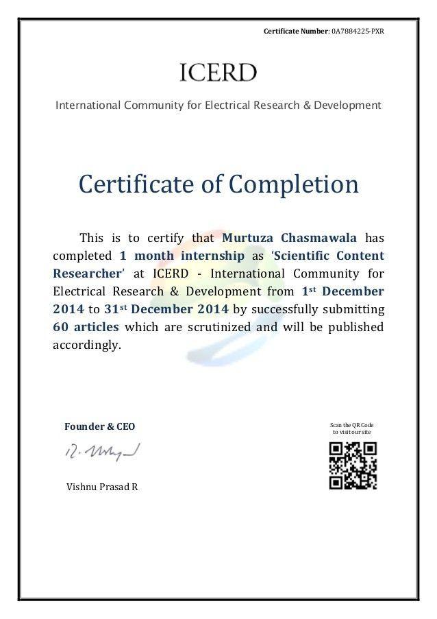 internship completion certificate - murtuza chasmawala