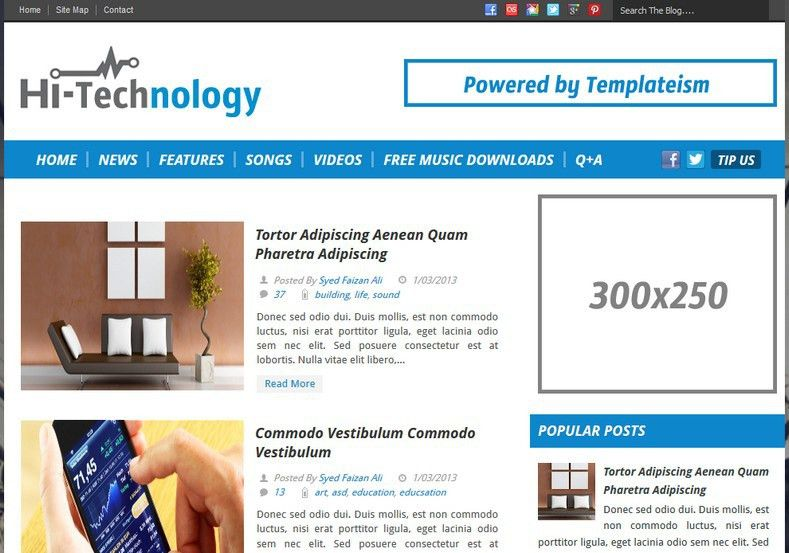 Hi-Tech Blogger Template 2014 Free Download