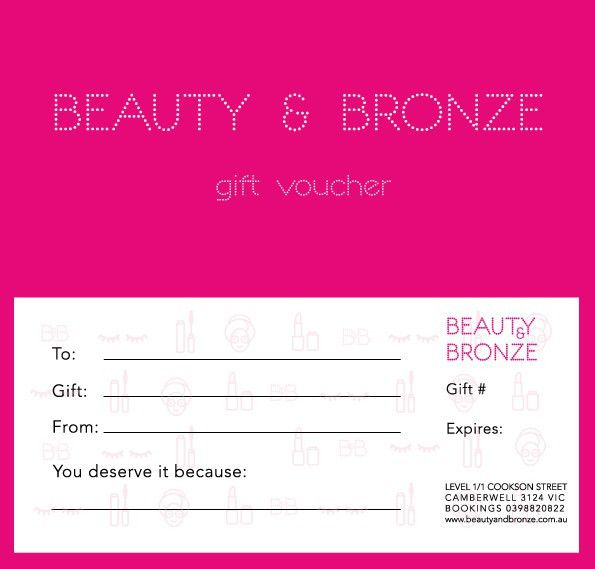 Gift Vouchers – Beauty and Bronze – Experts Beauty Therapy Melbourne