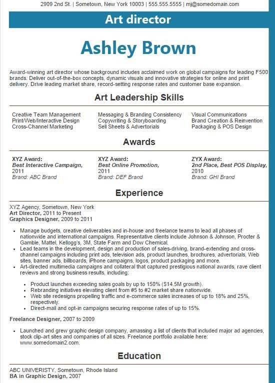 art director resume samples art director resume samples visualcv