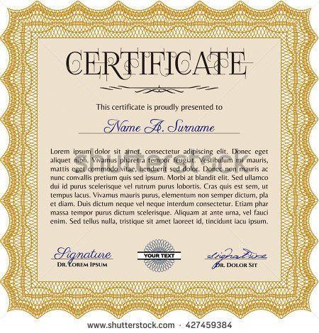 Vector Certificate Template Stock Vector 323492219 - Shutterstock