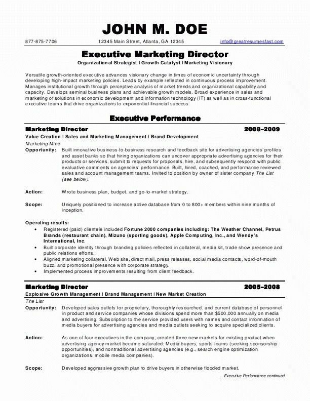 Resume Sample Marketing Manager - Gallery Creawizard.com